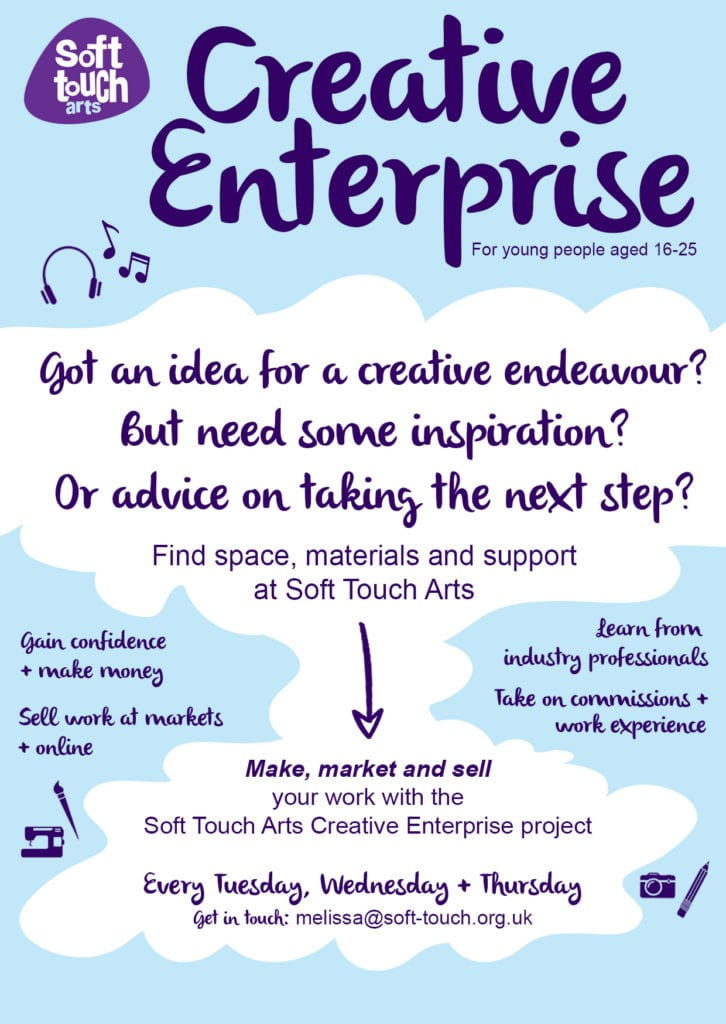 Creative Enterprise, 16-25, young people, inspiration, work experience, make money